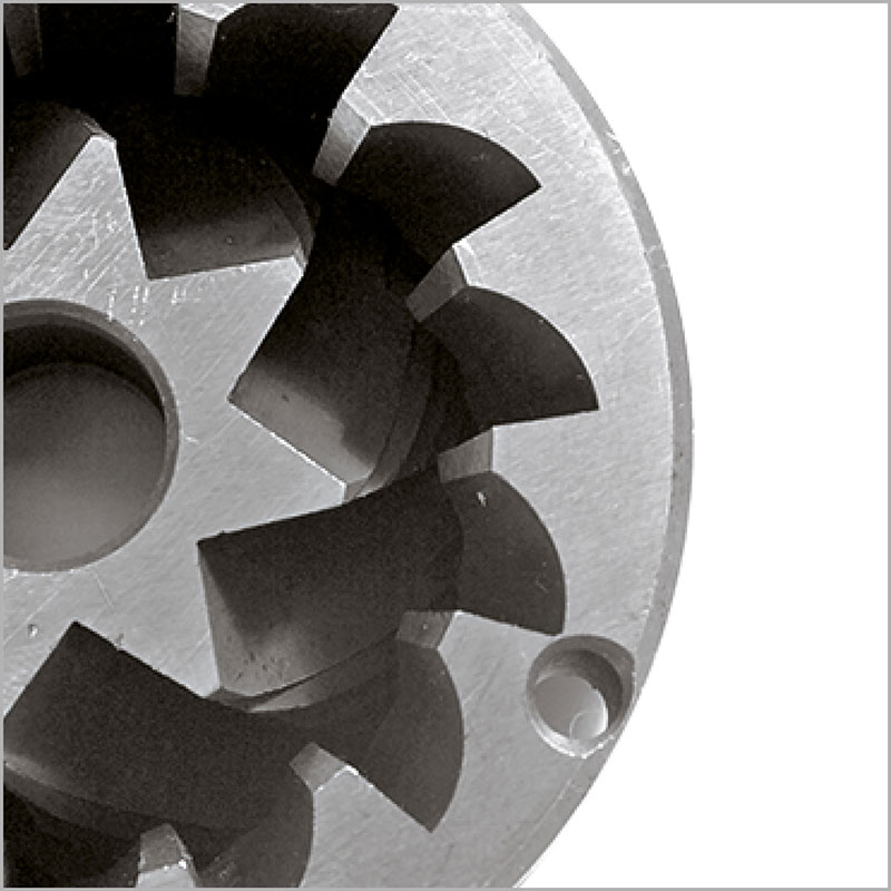 Conical grinding blade